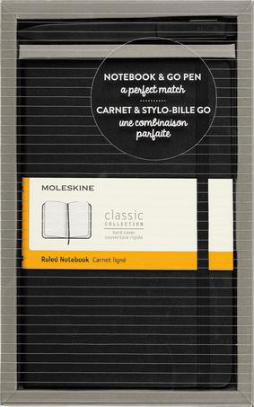 クラシック ノートブック & Go ペン セット BUNDLE VERTICAL LG +GO PEN BLACK