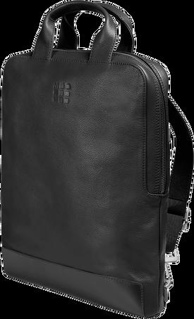 バーチカル(縦型)デバイスバッグ - 15インチ CLASSIC LTH DEVICE BAG VERT BLK
