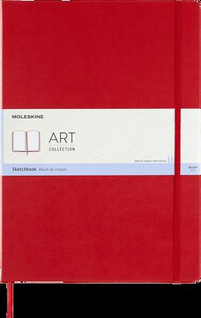 スケッチブック ART SKETCHBOOK A3 SCARLET RED