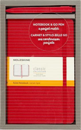 Classic Notebook and Go Pen Set BUNDLE VERTICAL LG +GO PEN SC.RED