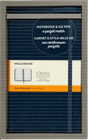 Classic Notebook and Go Pen Set BUNDLE VERTICAL LG +GO PEN SAP.BLUE